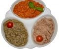Selectie de salate aperitiv: zacusca de hribi, salate de vinete, fasole batuta (400g)